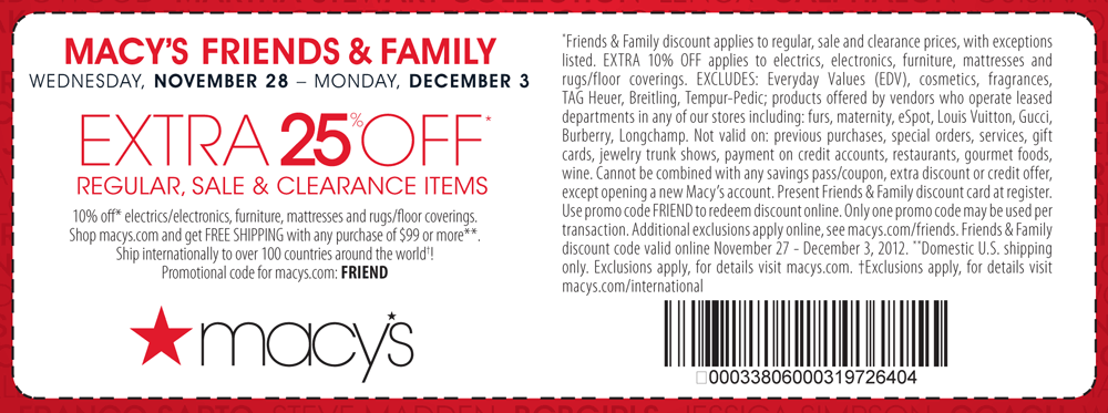 25 Off At Macys Or Online Via Checkout Promo Friend Coupon Via The Coupons App Macys Coupons Macys Macys Deals