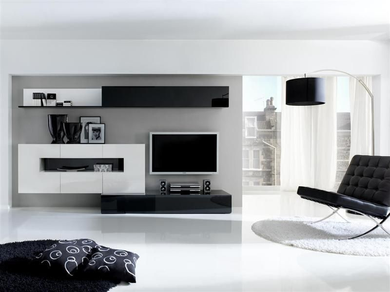Decoraci n en blanco y negro sal n pinterest for Muebles de salon negros