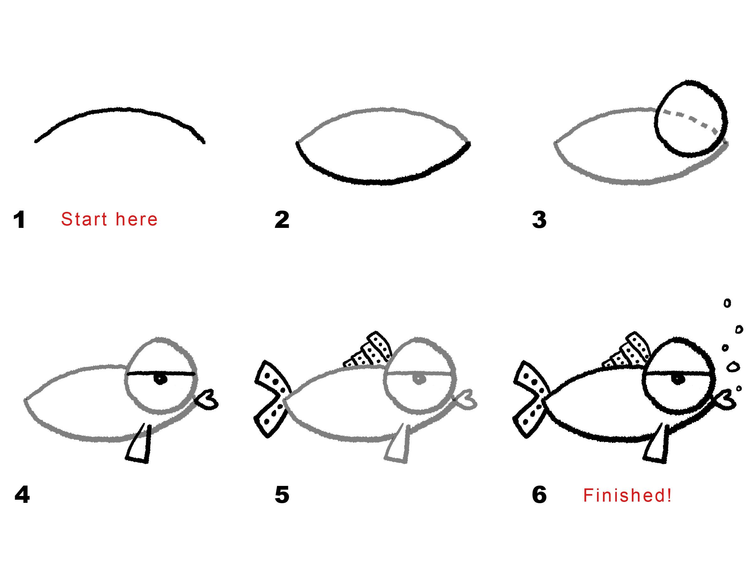 Uncategorized How To Draw A Puffer Fish Step By Step drawing a funny fish art pinterest doodles and easy fish