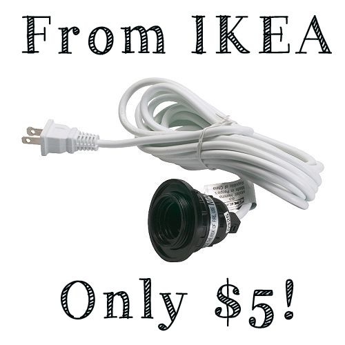 How To Rewire A Lamp With An Ikea Hemma Cord Set Ikea Pendant Light Hanging Light Lamp Lamp Cord