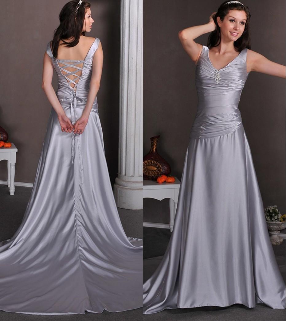 Silver wedding dresses plus size  Simple Silver Wedding Dresses  Plus Size Dresses for Wedding Guests