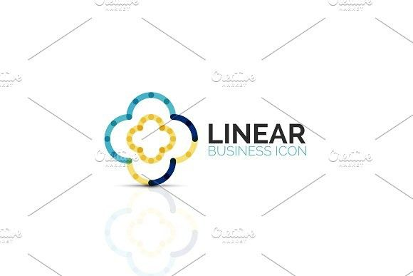 Abstract Flower Or Star Linear Thin Line Icon Minimalistic