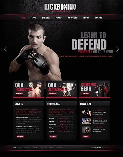 Professional Kickboxing Club Theme Html Cms