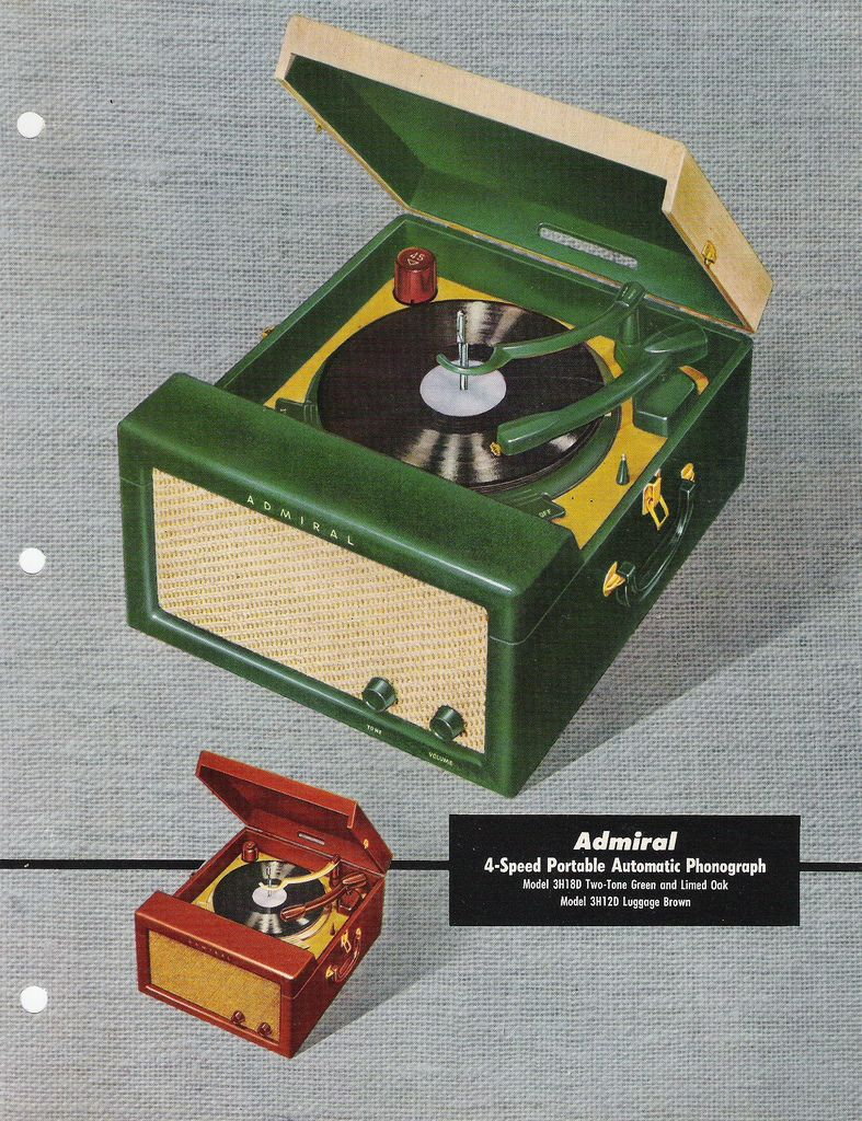 """'56 ... what all 1950s teens were spinning those platters on ...  Don't know what ever happened to my old record player but O man I got a lot of use of it!!  First record: 45 rpm of Nat King Cole singing """"Those lazy crazy hazy days of summer"""""""