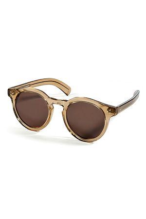 "Handmade in France with retro clear brown frames, NYC sunglass star brand Illesteva's ""Leonard 2"" sunnies are a cool choice for all four seasons #Stylebop"