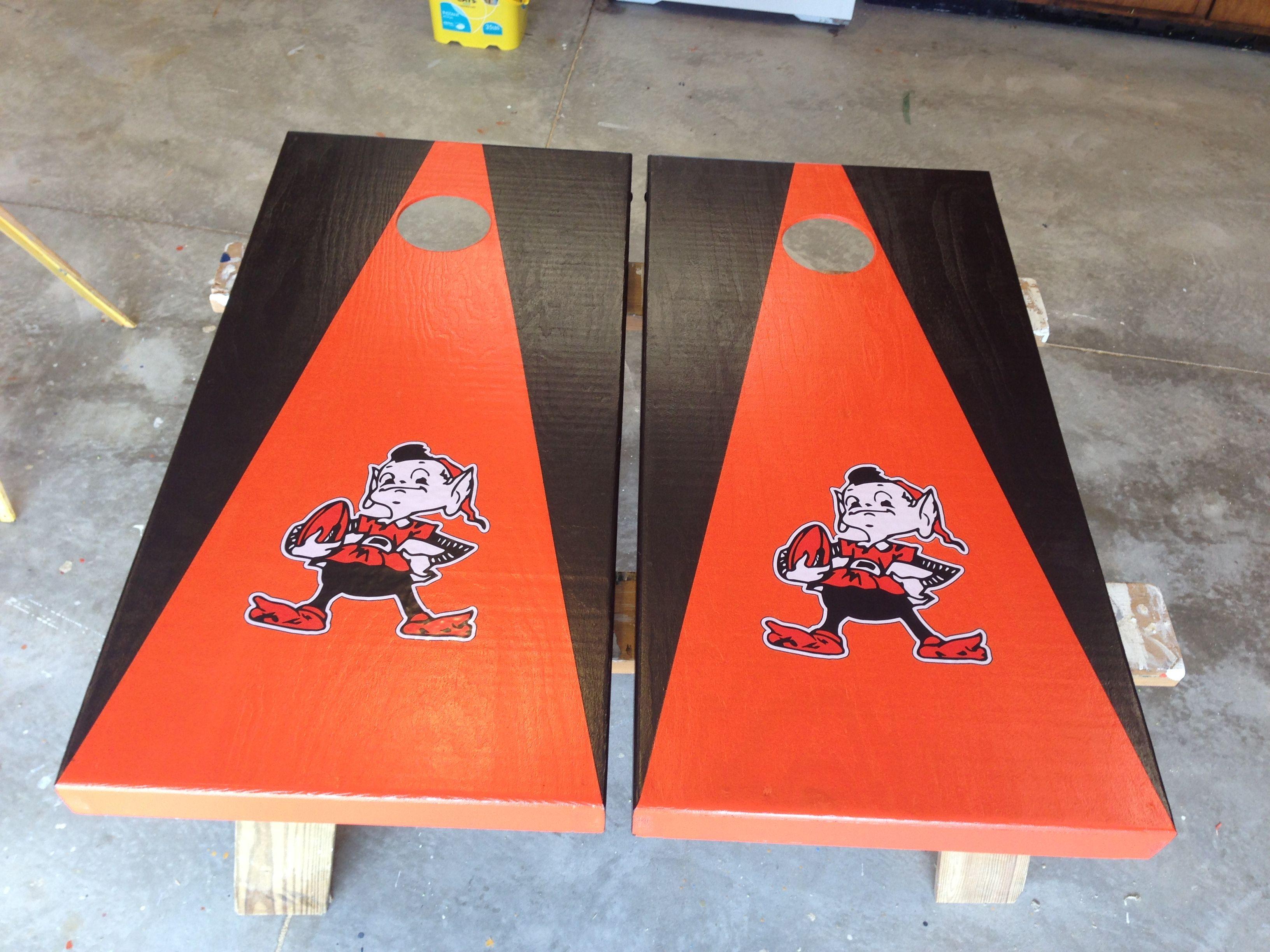 Cleveland Browns Elf Cornhole Boards Cornhole Cornhole Boards Browns Elf