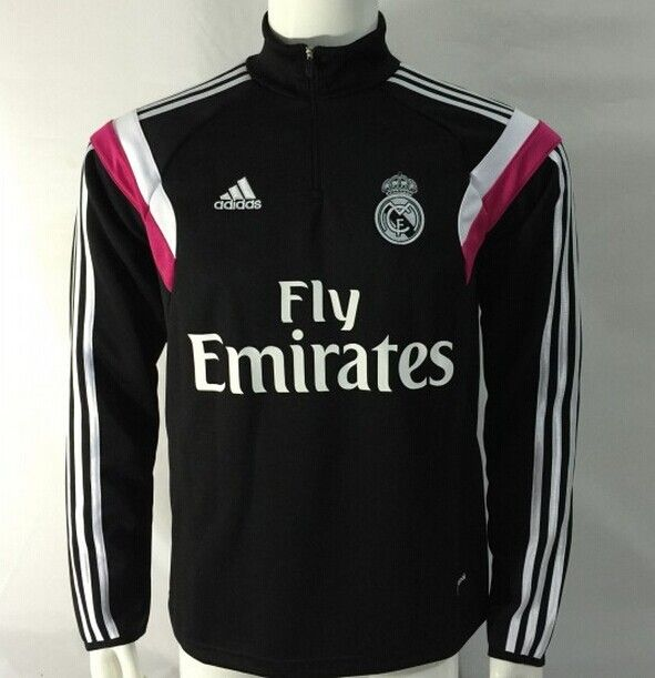 Sudadera Real Madrid con cremallera 2014 2015 -- Negro - €35.00 ... e1eb870f1532e