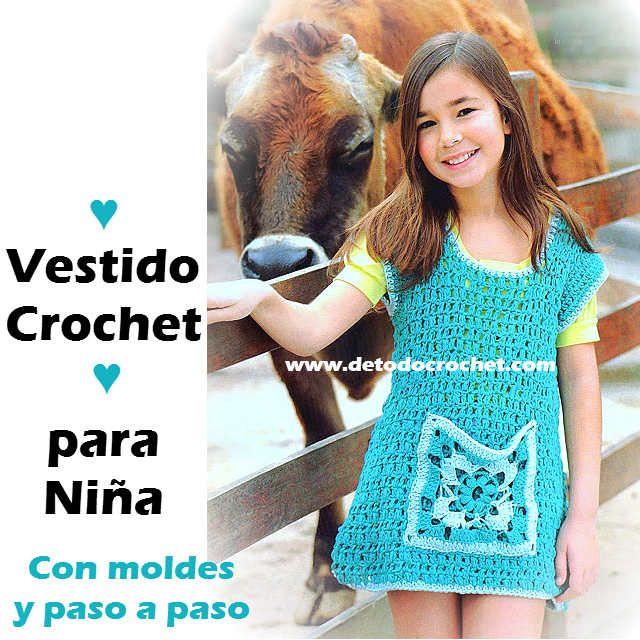 Todo crochet | Vestidos con mangas, Manga japonesa y Para niños
