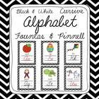This bright and cheery black & white chevron cursive alphabet pack is both eye grabbing and includes 2 sizes of alphabet posters, 8.5 x 11 and ...