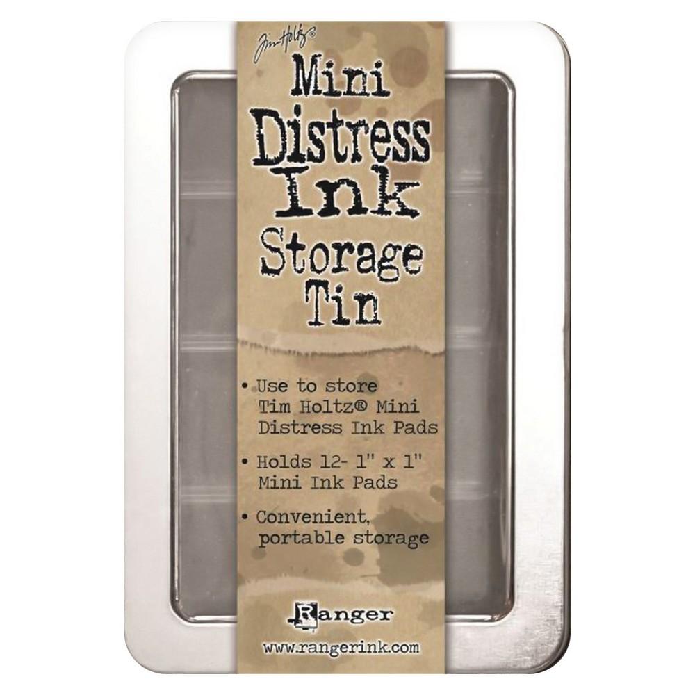 Ranger Metal Mini Distress Ink Storage Tin-holds 12 Tim Holtz Pad Tin