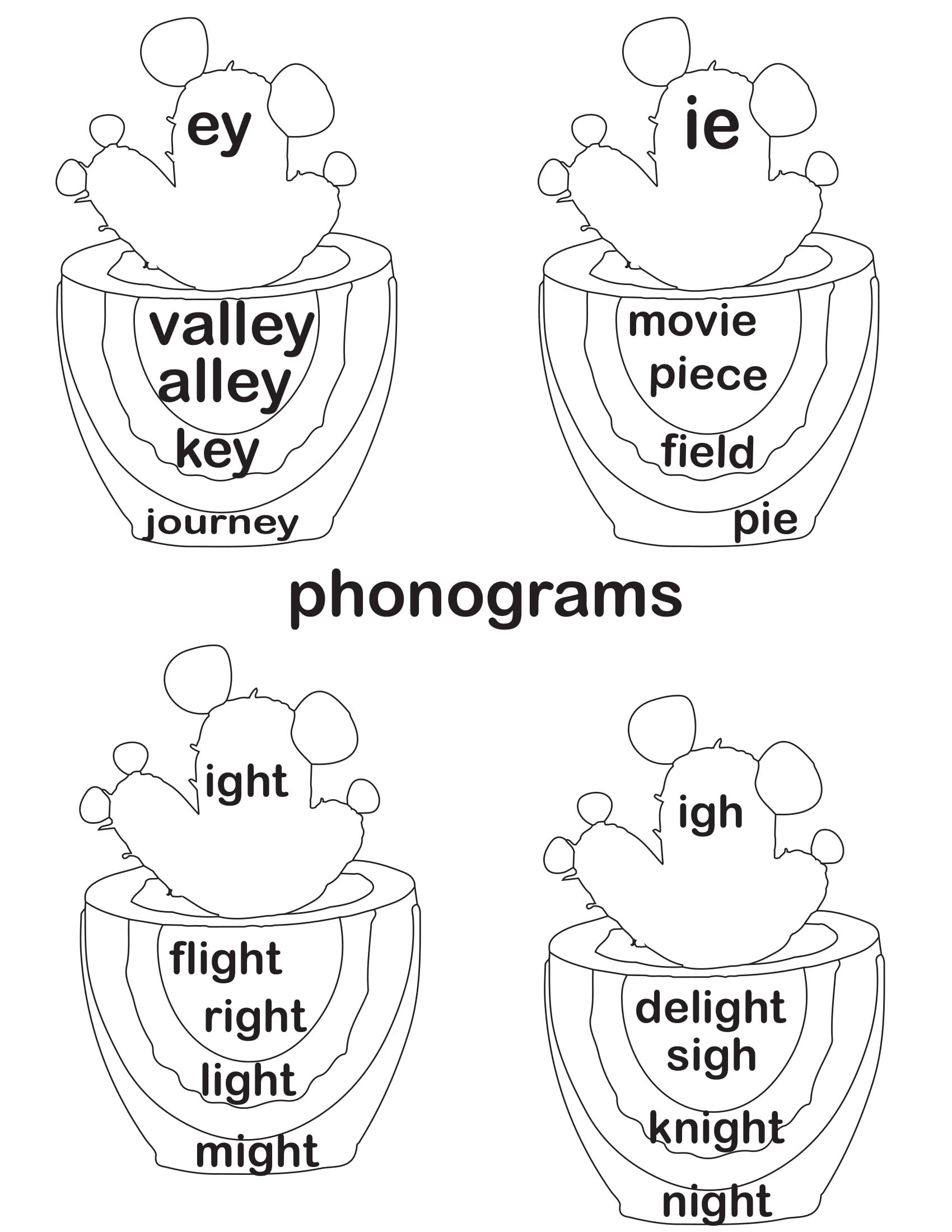 small resolution of phonograms - Practice the sounds ight