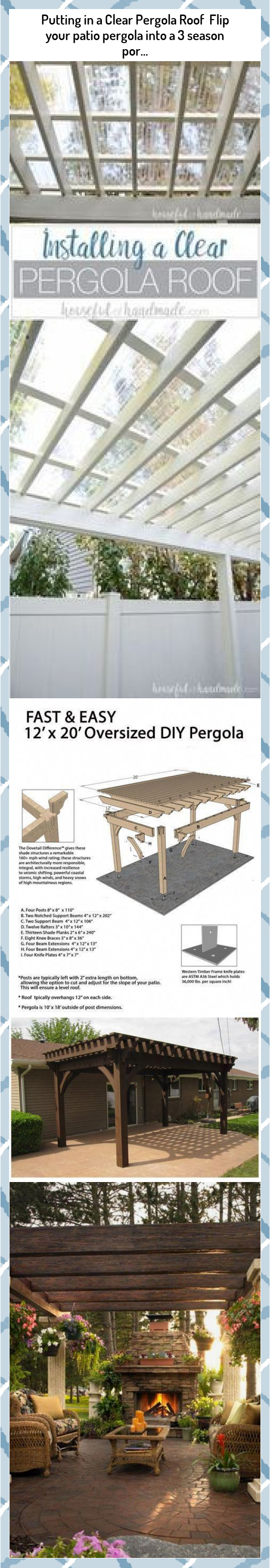Putting in a Clear Pergola Roof Flip your patio pergola into a 3 season por