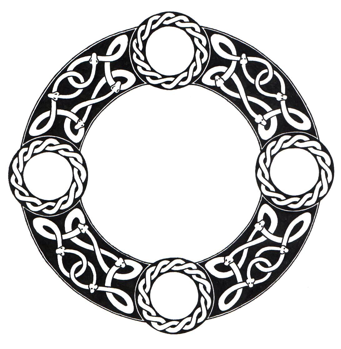 Tattoo Designs Circle: Scandinavian Knot Circle By