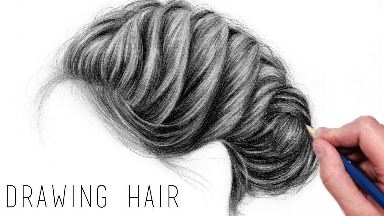 How To Draw Realistic Hair With Graphite Pencils Drawing Tutorial Step Realistic Drawings How To Draw Hair Pencil Drawings