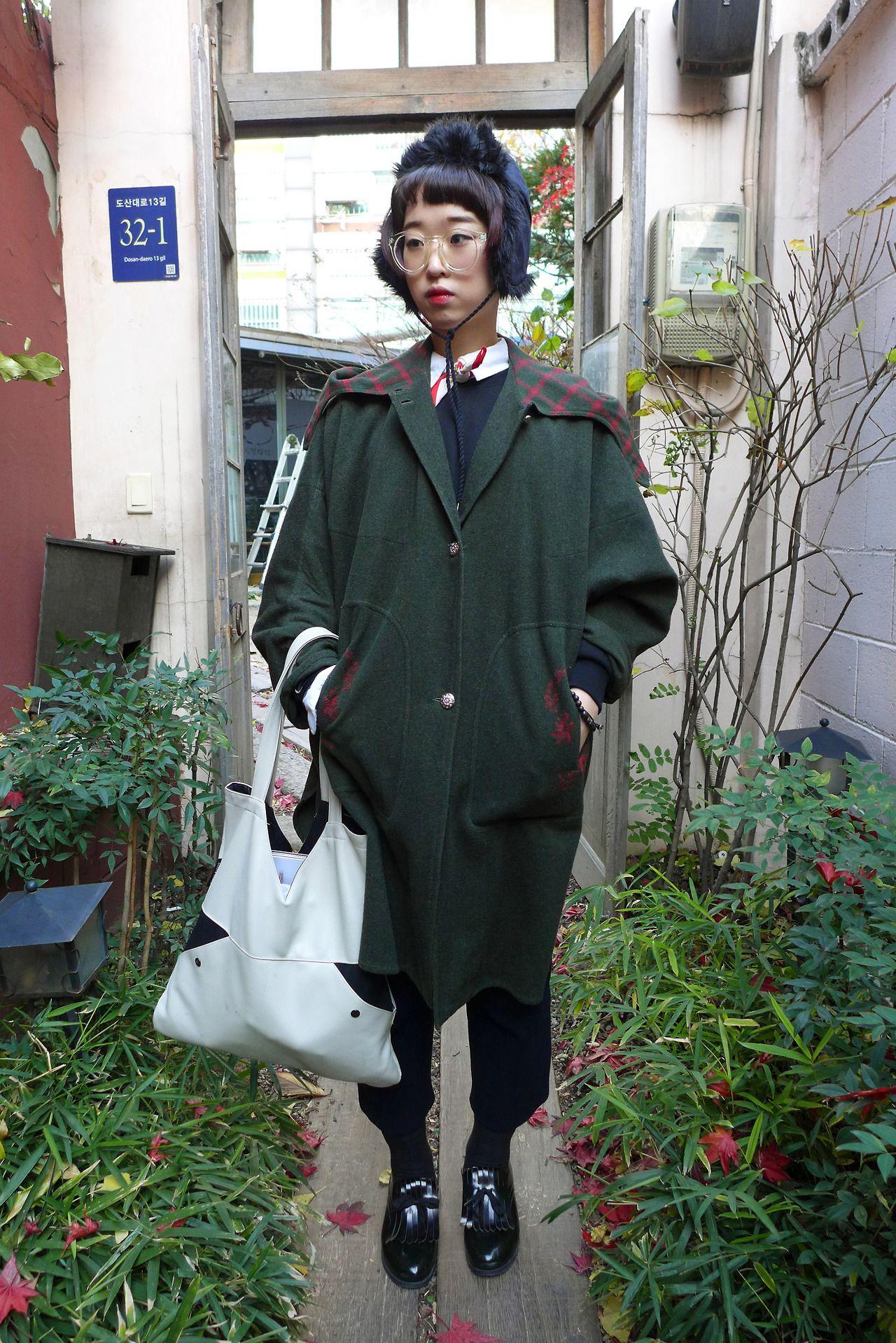 korea street fashion snap poto w.s.cfashion