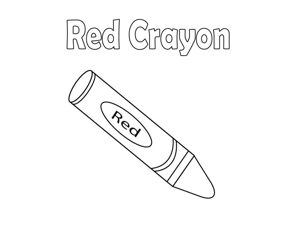 Red Crayon Coloring Pages | Free Coloring Pages | Pinterest ...