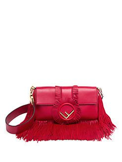 2e76aa82ffec Fendi - Fringe Leather Shoulder Bag