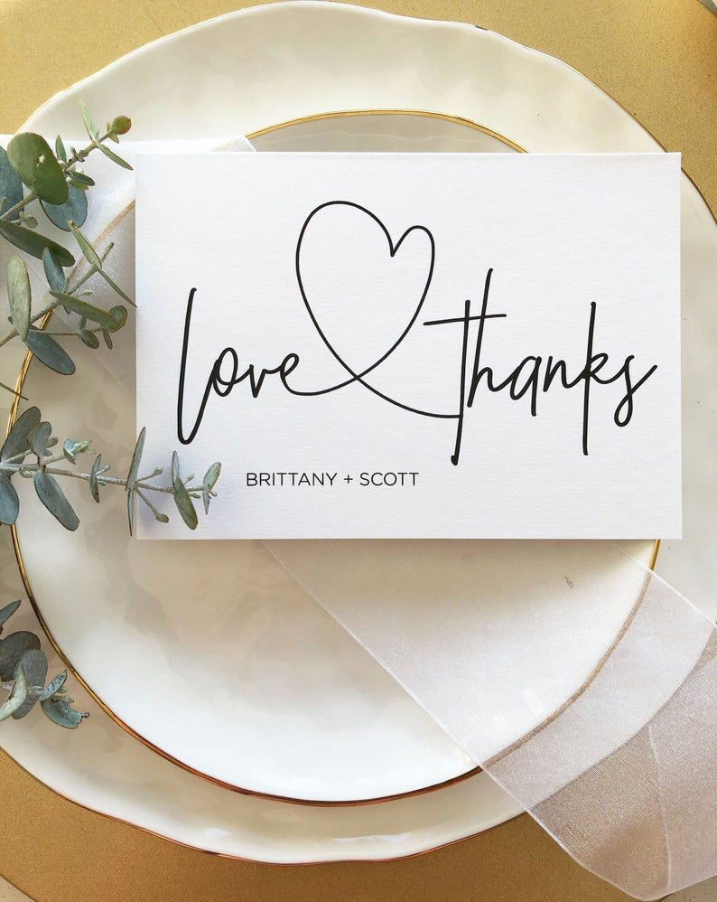 wedding love and thanks modern thank you cards baby