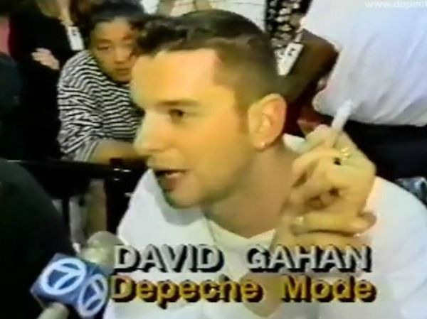 Vintage Audio: KROQ's Richard Blade chats up Depeche Mode at Wherehouse in-store