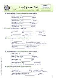 Resultat De Recherche D Images Pour Francais Pdf Verbe Etre Et Avoir Exercice Cm2 Conjugaison Cm2 Exercices Conjugaison