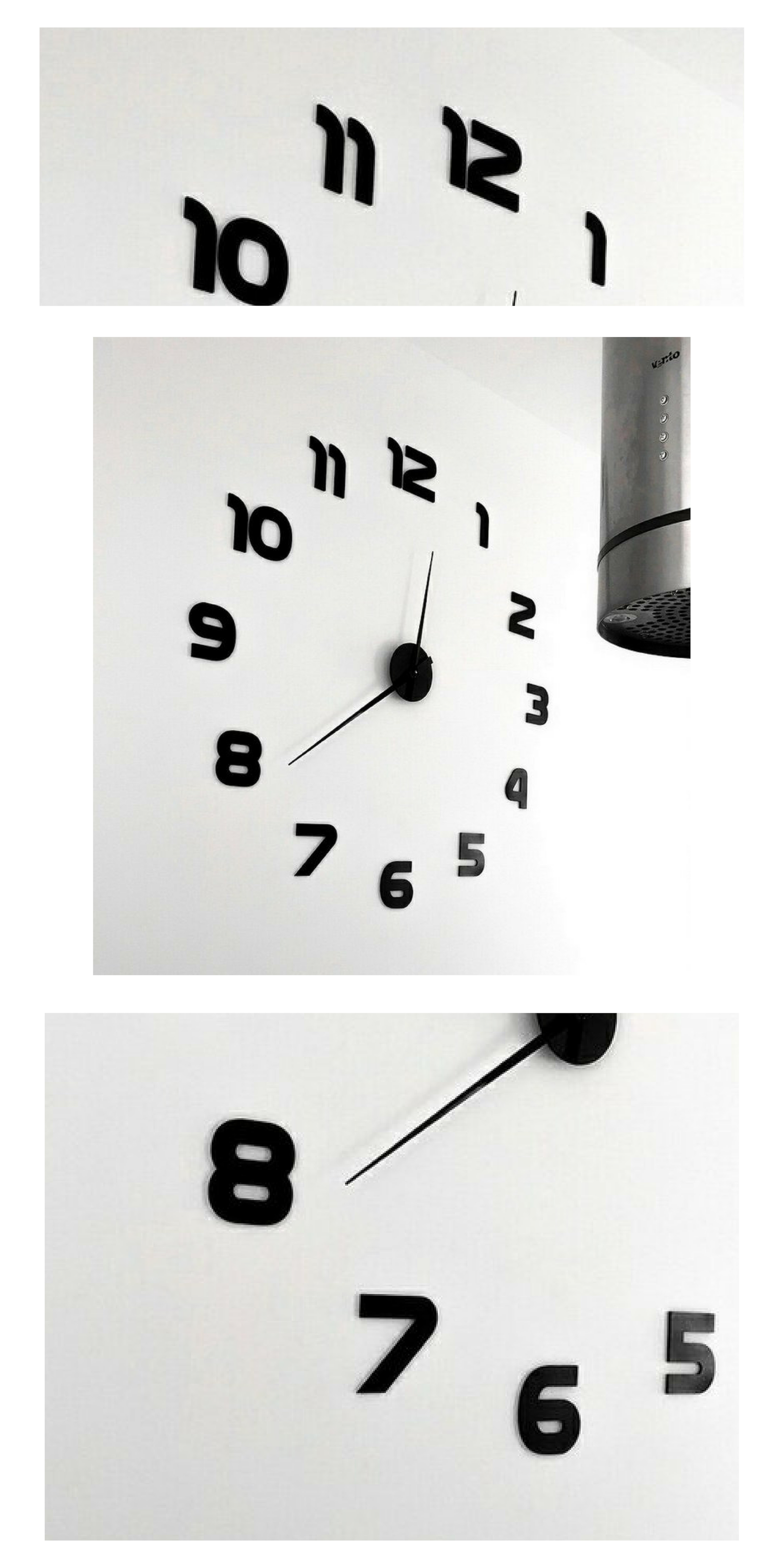 Extra Large Wall Clock 80 120 Cm 30 50 In Simple Clock Etsy Wall Clock Large Wall Clock Extra Large Wall Clock