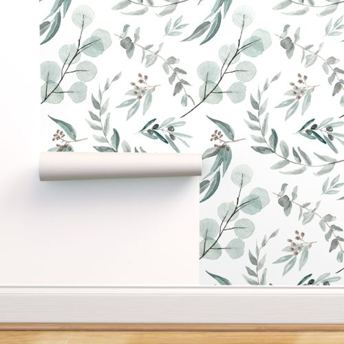 Wallpaper Spoonflower By Independent Designers Botanical Wallpaper Large Scale Wallpaper Fabric Wallpaper