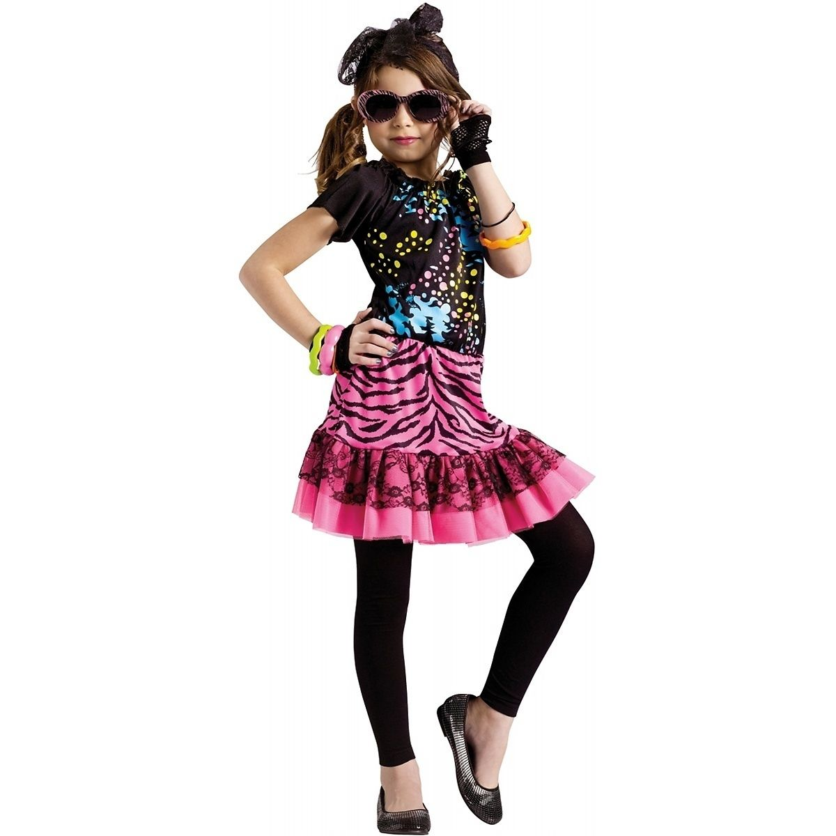 80's Pop Party Costume Kids Rock Star Singer Halloween