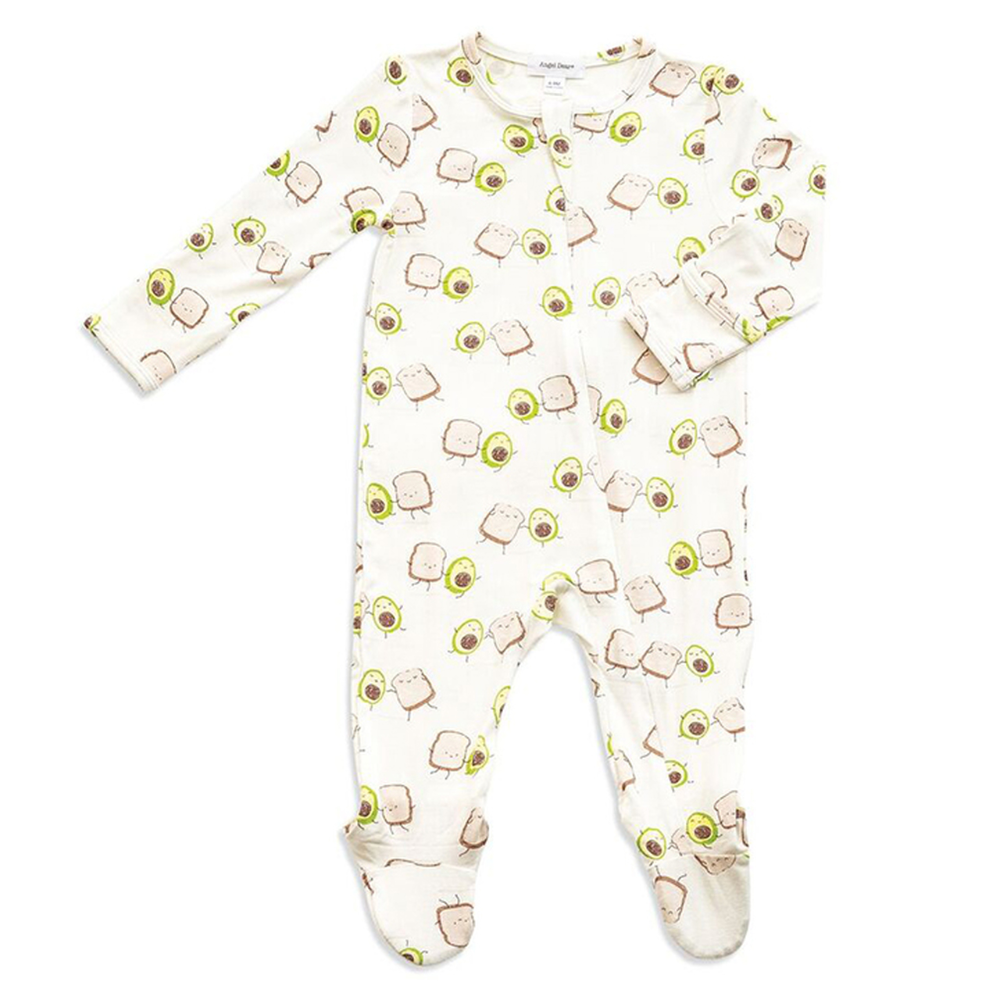 I Love Toast Toast Organic One-Piece Kid Pajamas Clothes Toddler Baby Boy Romper Jumpsuit