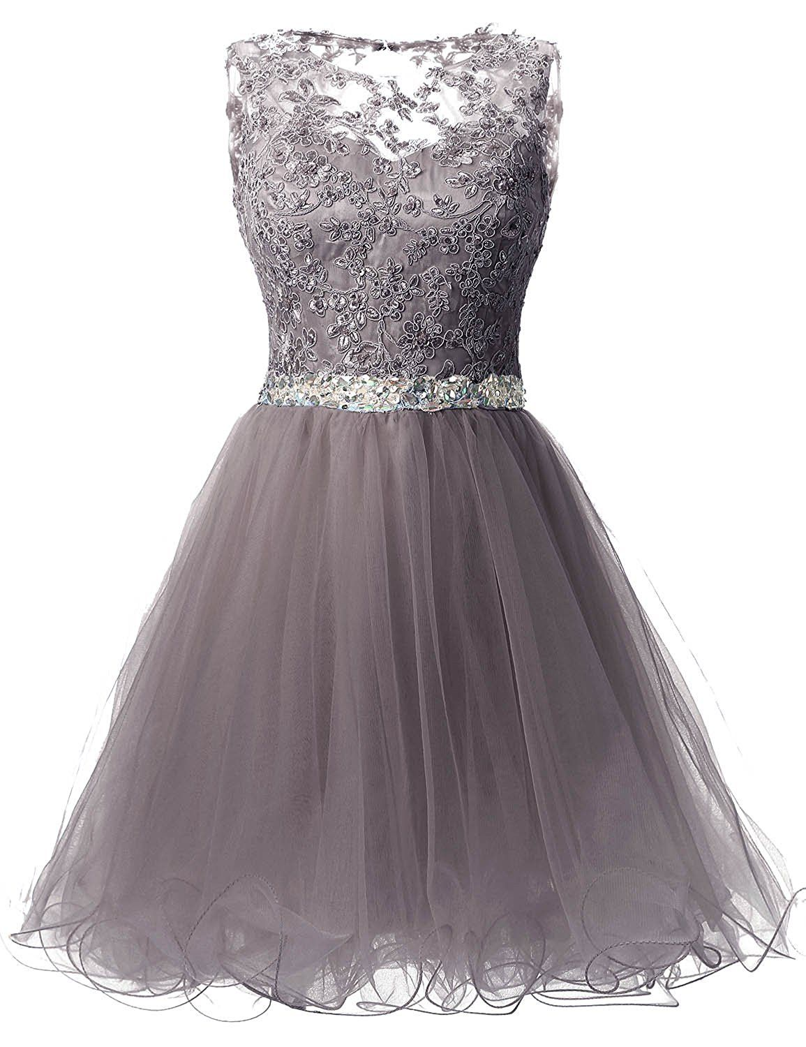 99f49897ef3 Amazon.com  Sarahbridal Women s Short Tulle Beading Homecoming Dress Prom  Gown Burgundy US2  Clothing