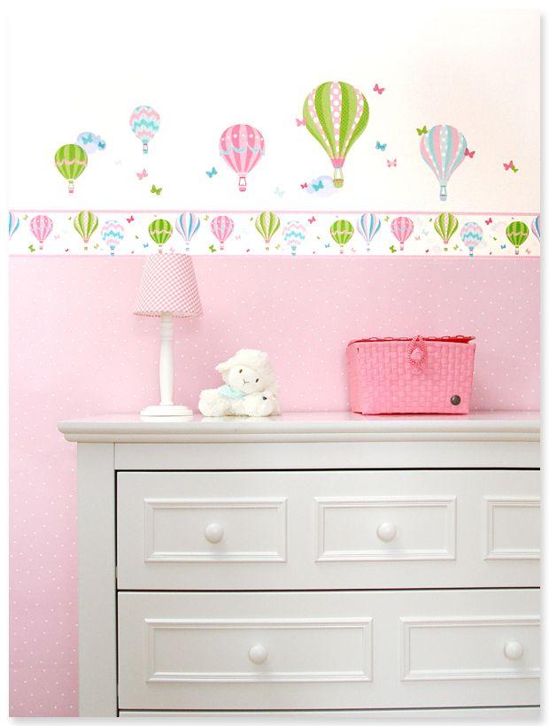 kinderzimmer grun, kinderzimmer mit heißluftballons in rosa/grün von dinki balloon, Design ideen