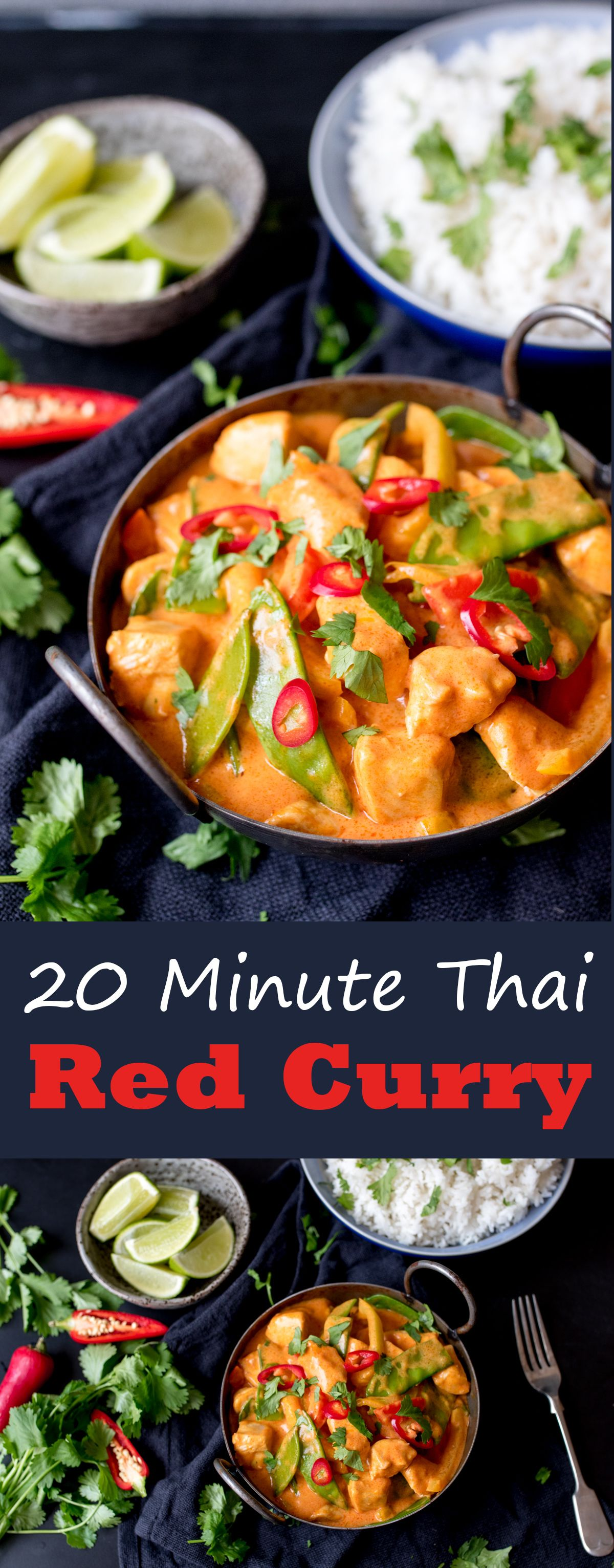 20 Minuten Red Thai Curry mit Extra Gemüse #fishmeal