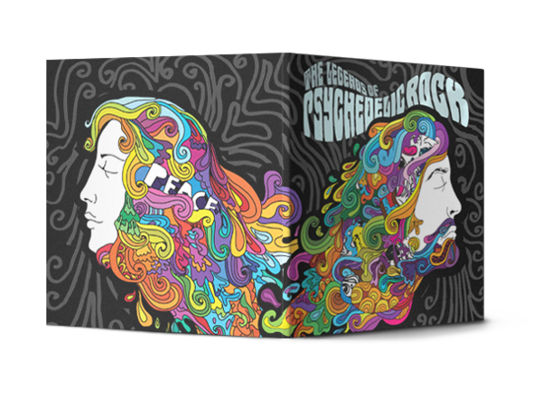 The Legends of Psychedelic Rock CD by Vahan Hovhannesian, via Behance