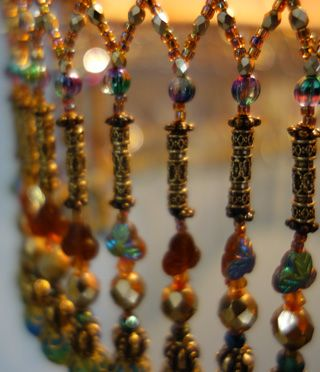 Nightshades bohemian style antique beaded lampshade beads and nightshades bohemian style antique beaded lampshade aloadofball Gallery