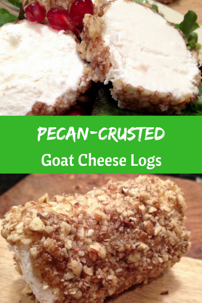 Pecan-Crusted Goat Cheese Logs #holidayappetizer #holidays