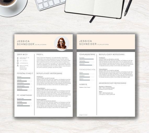 Bewerbungsvorlage Clean Chart für MS Office von KreativBewerbung