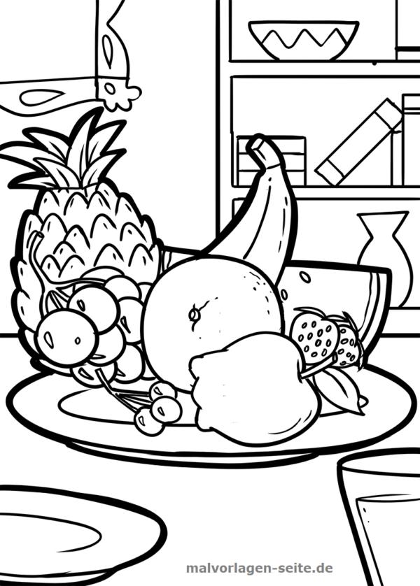 Malvorlage Obst Fruchte Kostenlose Ausmalbilder Ausmalbilder Malvorlagen