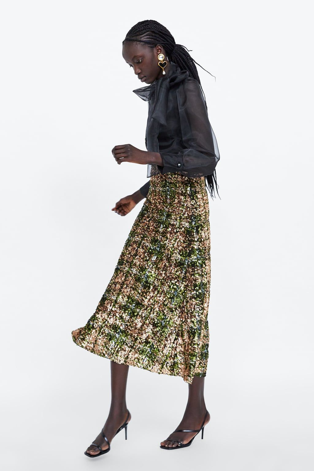 Zara sequinned skirt
