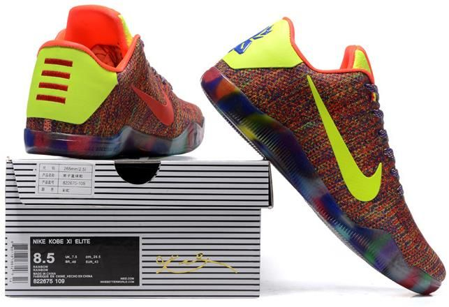 hot sale online 9e43e 253a2 Nike Kobe 11 Elite Rainbow Green Red Blue Yellow Red1
