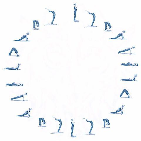yoga circle sun salutation  surya namaskar yoga times
