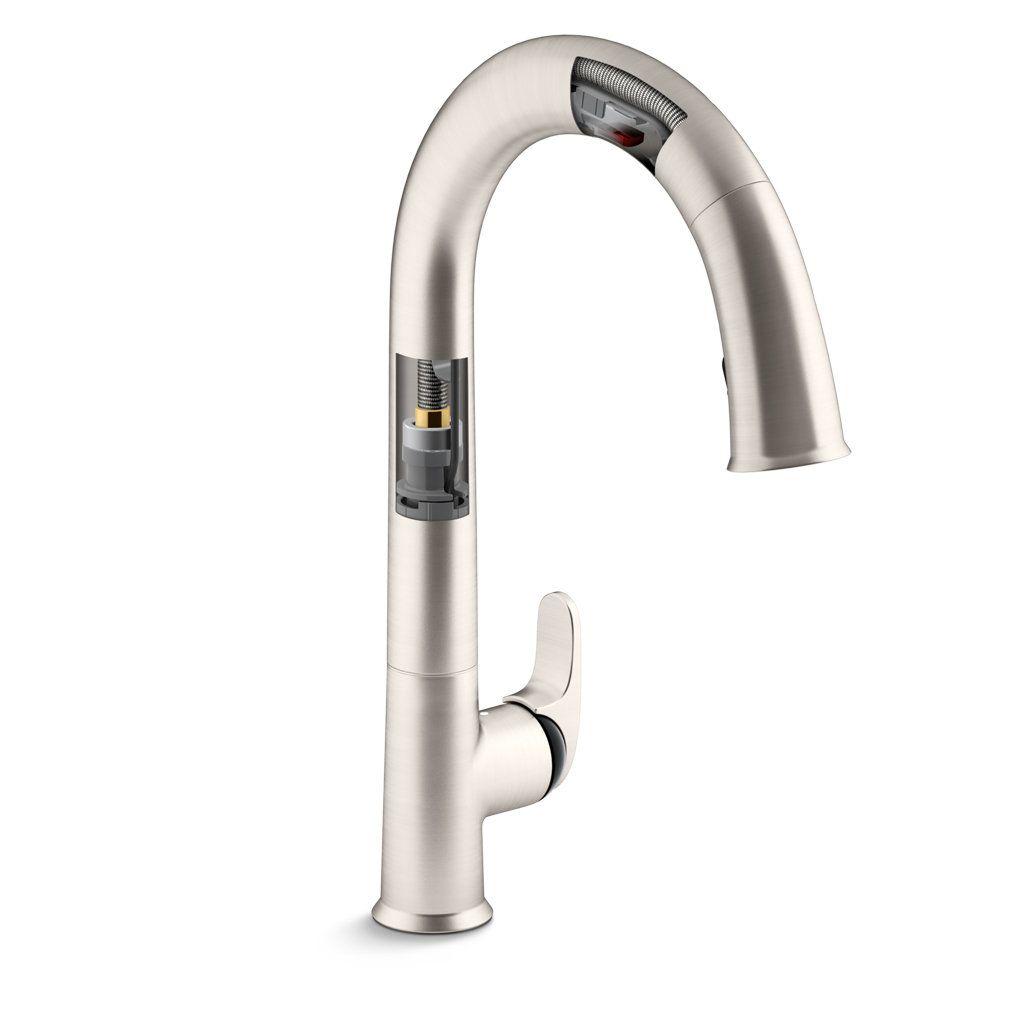 Kohler K 72218 Vs Sensate Touchless Kitchen Faucet Vibrant Stainless Touchless Kitchen Faucet Kitchen Faucet Faucet