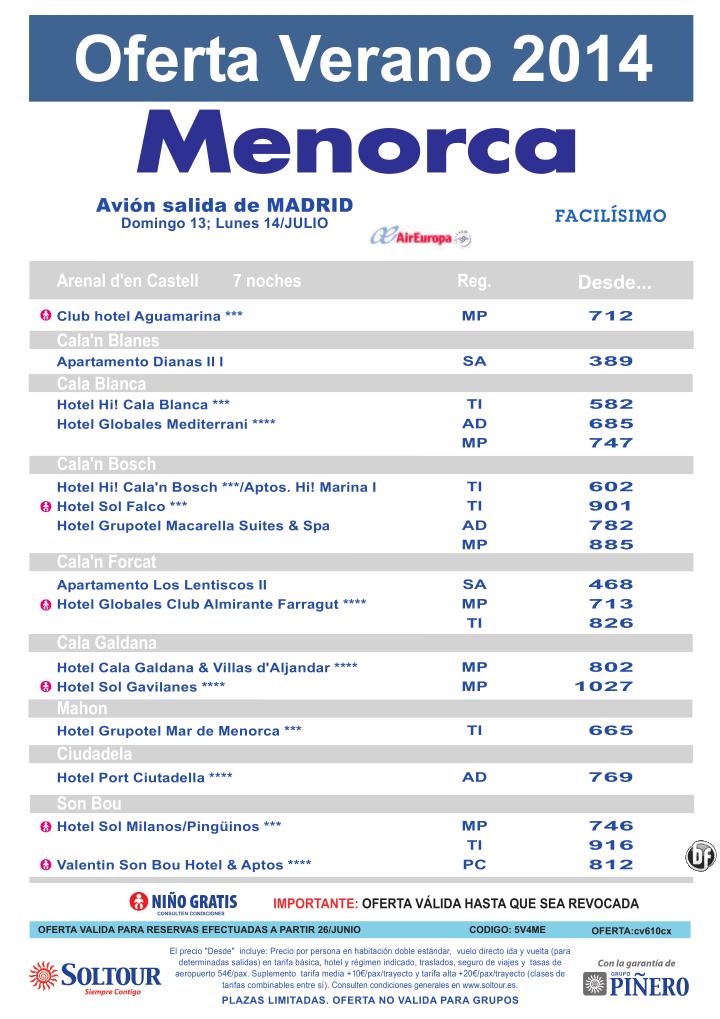 Oferta hoteles en Menorca, salidas 13 y 14 Julio desde Madrid ultimo minuto - http://zocotours.com/oferta-hoteles-en-menorca-salidas-13-y-14-julio-desde-madrid-ultimo-minuto/