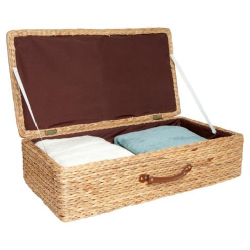 Under The Bed Storage On Wheels Buy Tesco Water Hyacinth Underbed Storage From Our Under Bed Storage