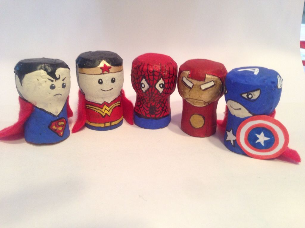 Champagne Corks Superheros Recycling Cork Crafts Diy Wine Cork Crafts Christmas Champagne Cork Crafts