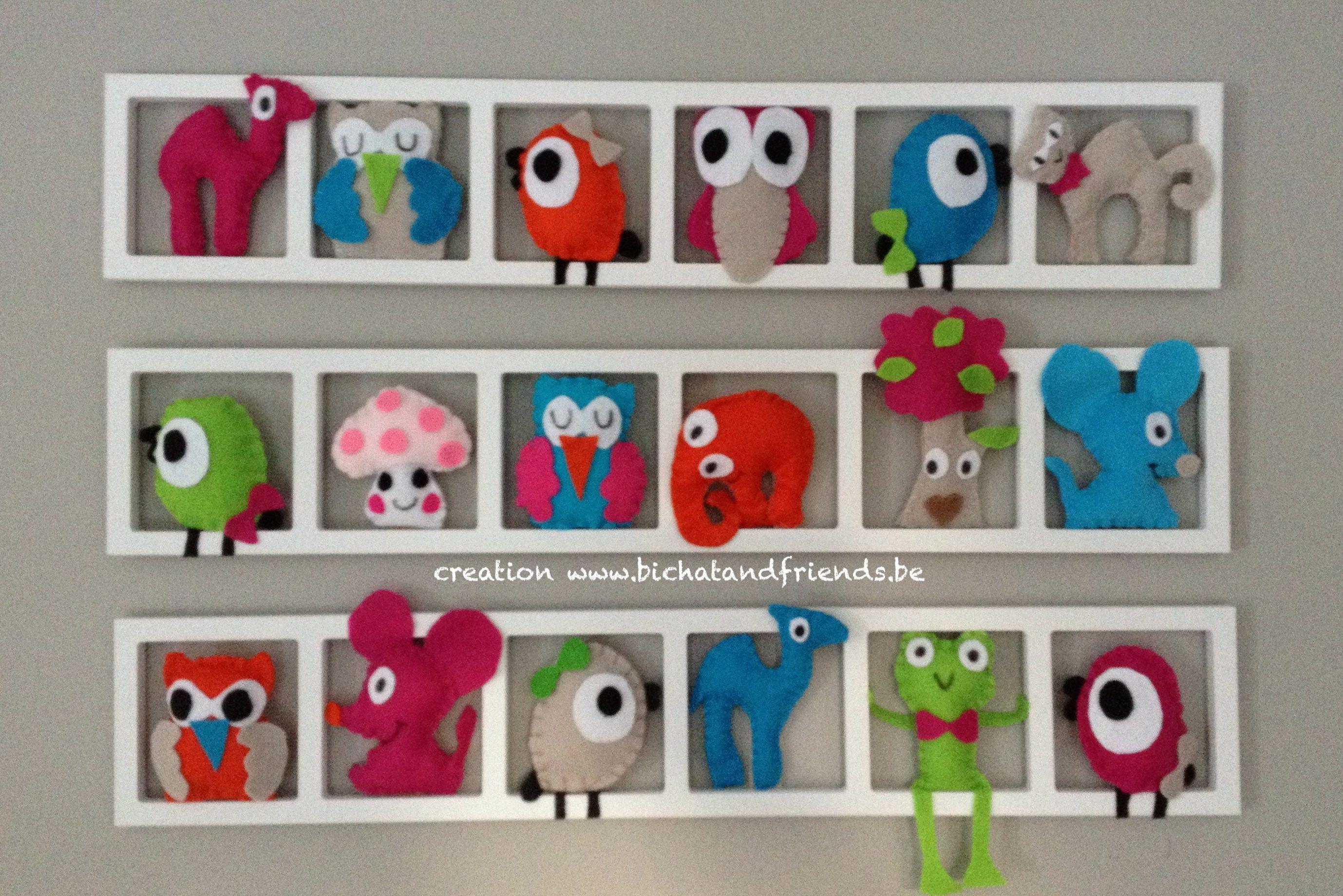 D Coration Chambre Enfant Bebe Animaux Multicolores Cadeau Naissance