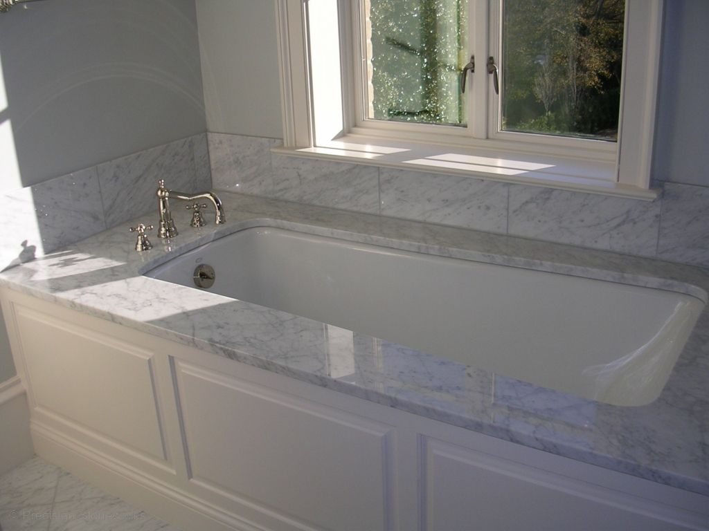 Whether Used As An Accent In A Powder Room Or As A Bold Statement - Carrara marble bathroom countertops for bathroom decor ideas