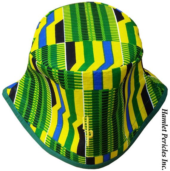 African Kente Unisex XL Bucket Hat via Hamlet Pericles 48dbf5e82ce