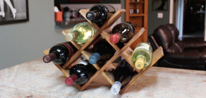 Diy Countertop Wine Rack Stojak Na Wino Polki Wino