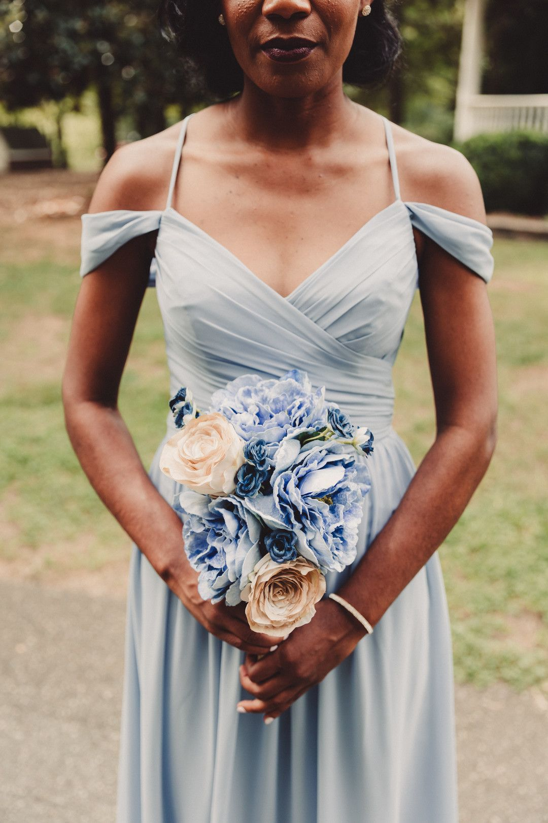 Outdoor wedding at the saratoga springs mount pleasant nc