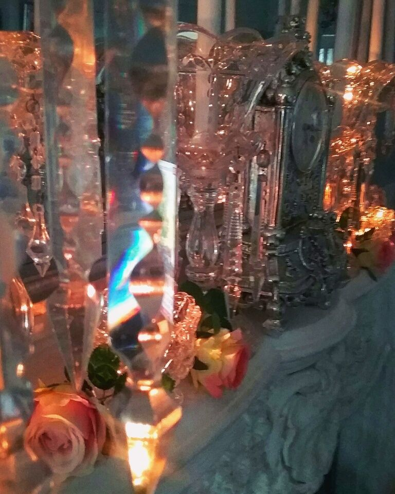 CIEL DE LT photo of my French marble fire place with crystal. Lots of love X