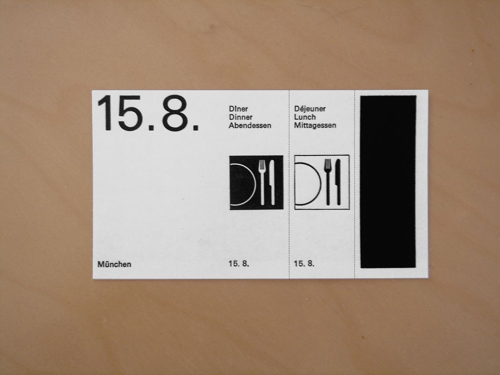 Meal Voucher | Pictogram and Typography